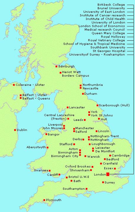 Unimapnew - Uk universities map